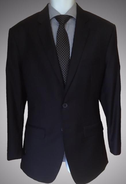 Plain navy business suit