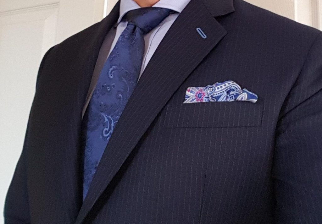 Navy pinstripe suit testimonials